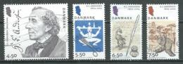 Danemark YT N°1399/1402 Hans Christian Andersen Oblitéré ° - Danemark