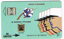 Polynesie Francaise Tahiti Telecarte Phonecard Prepaid PF11 Legion Etrangere Armee Kepi Regiment Soldat Ut TBE - Frans-Polynesië