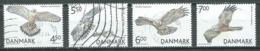 Danemark YT N°1386/1389 Oiseaux Rapaces Oblitéré ° - Danemark