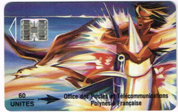 Polynesie Francaise Tahiti Telecarte Phonecard Prepaid PF13B Reve A L'espadon SC7 Vert Ut TBE - Französisch-Polynesien