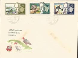 V) 1969 CARIBBEAN, ALEXANDER VON HUMBOLDT, GERMAN NATURALIST, SURINAM EEL, NIGHT APE, CONDORS, WITH SLOGAN CANCELATION I - Covers & Documents