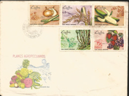V) 1969 CARIBBEAN,SPECIAL AGRICULTURAL PLANS, AGRICULTURE, STRAWBERRIES, GRAPES, BANANA, MULTIPLE STAMPS, BLACK CANCELAT - Covers & Documents