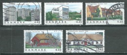 Danemark YT N°1346/1350 Maisons Danoises Oblitéré ° - Danemark