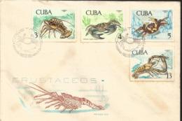 V) 1969 CARIBBEAN, CRUSTACEAN, MARINE LIFE, PANULIRUS ARGUS, CALLINECTES SAPIDUS, GECARCINUS RURICOLA, MACROBRACHIUM CAR - Covers & Documents