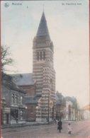 Merksem Bredabaan Geanimeerd St. Sint Franciscus Kerk Franciscuskerk Ingekleurd Colorisée 1908 (In Goede Staat) - Antwerpen