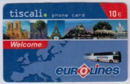 RARE - Tiscali  - Monuments Paris - Eurolines - 10 € - Voir Scans - Autres Prépayées