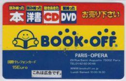 RARE - BOOK-OFF  - Paris Opéra - 15 € - Voir Scans - Autres Prépayées