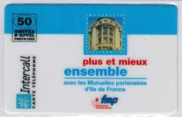 INTERCALL  - Fmp - Mutualité Francilienne - Tirage : 1.300 Ex - Code Non Gratté - Voir Scans - Autres Prépayées