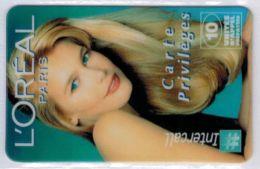 TRES RARE - INTERCALL  - L'Oreal - Claudia Schiffer - Tirage : 15 Ex - Code Gratté - Voir Scans - Autres Prépayées