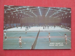 Tennis At The Sports Palace At Mount Airy Lodge Pa. Has Crease      Ref 3635 - Tennis