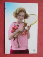 RPPC  Female Tennis Player-- Netherland Cancel        Ref 3635 - Tennis