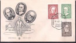 Argentina - FDC - 1959 - XXI Congrès International Des Sciences Physiologiques - Harvey - Bernard - Pavlov - FDC