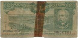 Angola - 50 Escudos - 15.08.1956 - Pick 88 - Série 18 IK - Henrique De Carvalho - PORTUGAL - Angola