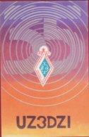 QSL Card Amateur Radio Station 1985 USSR CCCP SOVIET PROPAGANDA Illustrator Russia - Radio Amatoriale