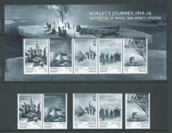 Australian Antarctic Territory 2016 Hurley's Expedition Set Of 5 & Miniature Sheet MNH - Unused Stamps