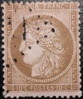 FRANCE Y&T N°58 Cérès 10c Brun  Sur Rose. Oblitéré Losange - 1871-1875 Ceres