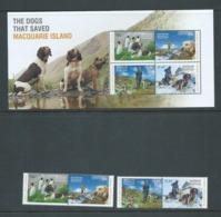 Australian Antarctic Territory 2015 Dogs Of Macquarie Island Set Of 4 & Miniature Sheet MNH - Unused Stamps