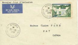 Nouvelle Caledonie Enveloppe Premier Jour First Day Cover Dumbea Barrage FIDES 22 Octobre 1956 TB RRR - Cartas