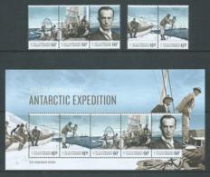 Australian Antarctic Territory 2014 Expedition Anniversary IV Homeward Bound Set 5 & Miniature Sheet MNH - Unused Stamps