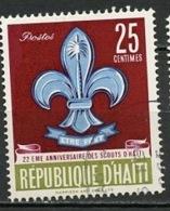 Haïti 1962 Y&T N°486 - Michel N°713 (o) - 25c Scouts - Haïti