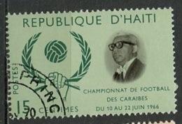Haïti 1966 Y&T N°558 - Michel N°(?) (o) - 15c Football Des Caraïbes - Haïti