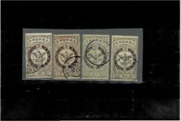 Corea (Korea) ,4 Pezzi Usati ,splendidi - Korea (...-1945)