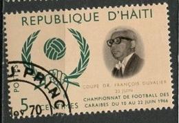 Haïti 1966 Y&T N°560 - Michel N°874 (o) - 5c Football Des Caraïbes - Haïti