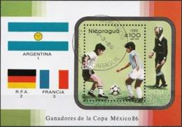 Nicaragua 1986 - Mi BL171 - YT BF 178 ( World Football Cup ) - Nicaragua