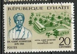 Haïti 1967 Y&T N°569 - Michel N°(?) (o) - 20c A Schweitzer - Haiti