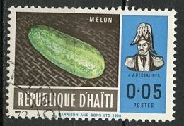 Haïti 1967 Y&T N°570 - Michel N°(?) (o) - 5c Melon - Haiti