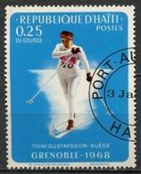 Haïti 1968 Y&T N°612 - Michel N°991 (o) - 25c JO De Grenoble - Haiti