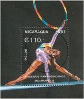 Nicaragua 1987 - Mi BL 174 - YT BF 181 ( Rhythmic Gymnastics ) - Nicaragua