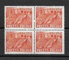 POLAND 1951 Sc 532 X4 MNH 2. - 1944-.... Republic