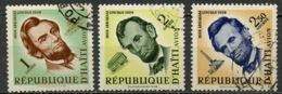 Haïti Poste Aérienne 1959 Y&T N°PA167 à 169 - Michel N°573 à 575 (o) - A Lincoln - Haïti