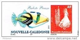 Nouvelle Caledonie Timbre Personnalise Prive Dessin Bunel Poisson Baliste Picasso Cagou Ramon 2014 Neuf Unc - Nuevos