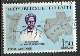 Haïti Poste Aérienne 1967 Y&T N°PA344 - Michel N°(?) (o) - 1,50g A Schweitzer - Haïti