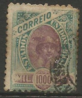 Brazil - 1894 Sugarloaf Mountain & Liberty Head 1000r Used  Sc 122 - Used Stamps