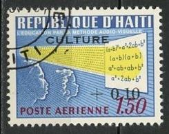 Haïti Poste Aérienne 1968 Y&T N°PA378 - Michel N°(?) (o) - 10cs1,50g Culture Audio Visuelle - Haïti