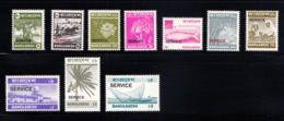 Bangladesh 1976-77 Asher Printed Service/official Stamp(for Government Official Use Only ) 10v MNH - Bangladesh