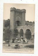 Cp, 79 , PARTHENAY ,le Pont Et La Tour SAINT JACQUES ,métier : Lavandières - Parthenay