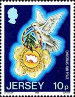 Jersey Poste N** Yv:387/389 Christmas Année Internationale De La Paix - Jersey
