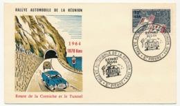 """REUNION - Enveloppe - Cachet Temporaire """"Rallye Automobile De La Réunion"""" 30 Mai 1964 - St Pierre - Réunion (1852-1975)"""