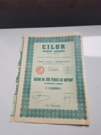 CILOR (ciments Lorrains) Action 300 Francs - Actions & Titres
