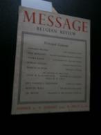 Message Belgian Review 27 (January 1944) : Congo, Breendonk, Luxemburg, Heyse, - Boeken, Tijdschriften, Stripverhalen