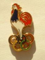 PIN'S COQ - ANNEAUX OLYMPIQUES - Jeux Olympiques