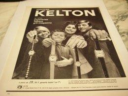 ANCIENNE PUBLICITE POUR LA FAMILLE MONTRE KELTON 1964 - Bijoux & Horlogerie