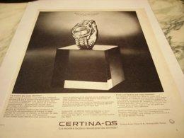 ANCIENNE PUBLICITE MONTRE  CERTINA DS 1964 - Gioielli & Orologeria