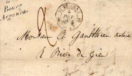 Cursive 84 BOURG ARGENTA Et Cachet 12 St ETIENNE,L.A.C. Du 4/12/36 - 1801-1848: Précurseurs XIX