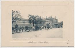 Cpa Dép-95 Val D'Oise Argenteuil Place De La Gare - Argenteuil