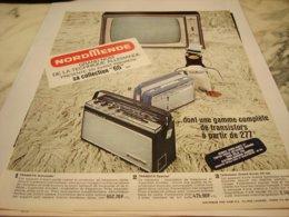 ANCIENNE PUBLICITE TECHNIQUE ALLEMANDE RADIO NORDMENDE 1964 - Music & Instruments